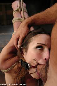 Bdsm mouth gag blowjob