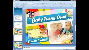 how to create invitation cards using microsoft word magicfingers birthday invitation card using microsoft point