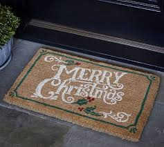 christmas door mats outdoor. Christmas Door Mats Outdoor Pottery Barn