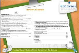 Biocareers Seminar Looking Your Best On Paper Building A Resume