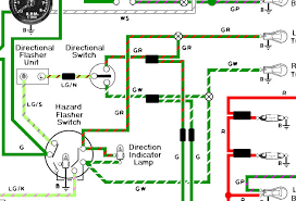 dash turn signals want two instead of one spitfire gt forum below is an image of the wiring circuit if i break out the grn r and grn w wires from the hazzard flasher switch run two seperate bulbs grounds