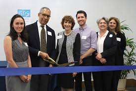 GPS ribbon cutting Steele and Doyle Berkeley Graduate Division