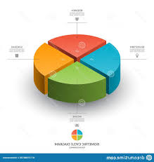 Isometric Cycle Diagram Infographics Vector Chart Parts