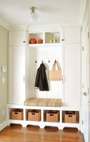Chic Entryway trend New York Traditional Entry Inspiration with beige  molding beige trim built-in bench built-in ...
