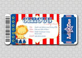 Invitation Ticket Template Circus Ticket Invitation Template Songwol f100e100f100 82
