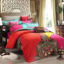 bohemian duvet bedding bohemian bedding set 4pcs winter warm boho bedclothes moroccan duvet cover brushed cotton