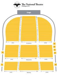 National Theater Seating Chart View Seating Chart The National Theatre Washington D C