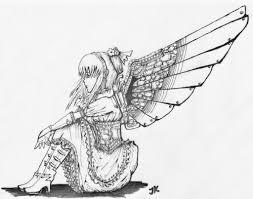 Steampunk Girl Drawing Pencil Drawing Of An Angel   Tattoo Ideas    Pinterest   Cyberpunk