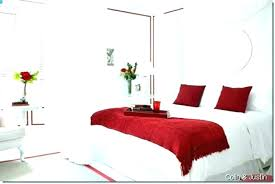 black white red bedroom and atmosphere