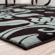blue and brown rug navy light