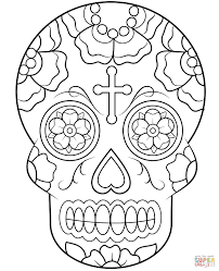 Candy Skull Coloring Pages Calavera Sugar Page Free Printable 8