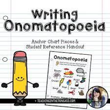 Onomatopoeia Writing Poster Anchor Chart Writing Anchor