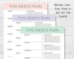 week schedule print out weekly planner printable 2018 planner pdf printable