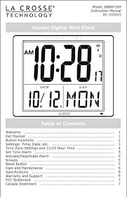 atomic digital wall clock table of