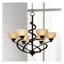 bronze chandelier dark ribbon classic glass 27 1 2 wide fixture for dining room