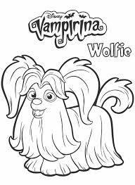 Wolfie From Vampirina Coloring Page Cora Bday Party In 2019