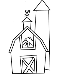 pre k coloring pages barn