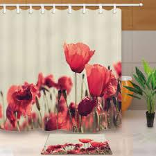 Bathroom decor shower curtains Bathroom Decoration Image Is Loading Pinkplumflowerlotusbathroomdecorshowercurtain Clexxco Pink Plum Flower Lotus Bathroom Decor Shower Curtain Waterproof