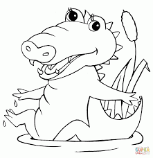 Small Picture Cartoon Crocodile Colouring Pages Page 392096 Coloring Pages For