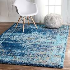 nuloom traditional persian vintage distressed area rug in blue