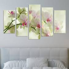 white orchids wall art decoration