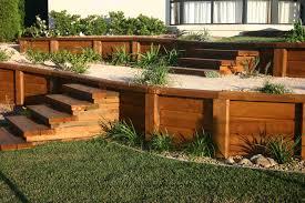 diy wooden retaining wall wood