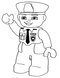 Small Picture Lego police person Free Printable Coloring Pages Lego Coloring