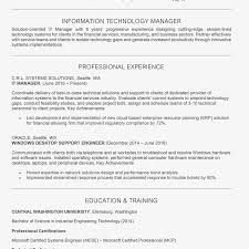mis manager resume it manager job description resume cover letter skills