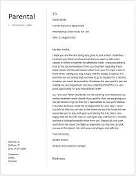 Parental Consent Letter Sle Parents Consent Letter News To Go 3