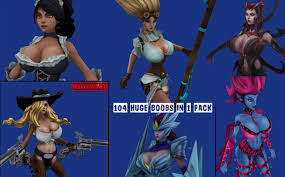 League of Legends big tits skins pack
