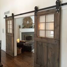 vintage custom sliding barn doors with windows