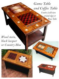 Coffee Table Game Table|Americana Game Table|Furniture Game Table -  Americana Country and Patriotic Decor