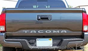 2015-2018 Toyota Tacoma TAILGATE LETTERS Rear Bed Lettering TRD ...