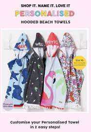 Cotton On Kids Personalised Kids Beach Towels Baby Snuggle Towels
