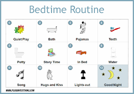 Bedtime Routine Chart Printable Free Evening Routine Cliparts Download Free Clip Art Free