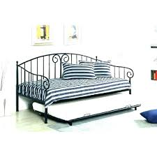 Queen Size Trundle Bed Frame With Medium Of White Metal Home ...