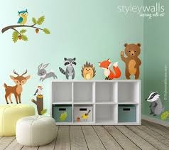 image 0 Woodland Animals Wall Decal Forest | Etsy