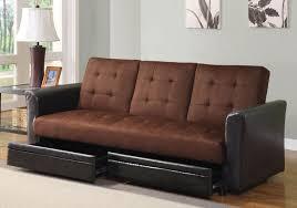 futon sofa beds with storage underneath design