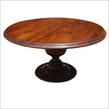 wood round dining table for 4 rustic traditional rosewood pedestal solid handcrafted w base 48 inch with leaf