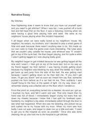 Essay Childhood Memories Narrative Essay Of My Injury In My Childhood Narrative Essay Of My