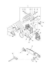 Echo cs 300 s n 03001001 03999999 parts diagram for chain brake