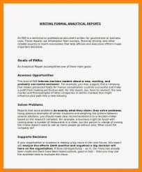 Sample Formal Report Example Of Formal Report Analytical Sample Complete Include