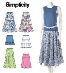 Skirt Patterns Extraordinary Simplicity 48 Misses Tiered And Flared Pullon Skirts