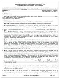 Printable Lease Form Rental Agreement Form Commercial Lease