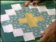 2102 Double Pinwheel Quilt, part 2- Great stack method which gives ... & Friendship and Christian Cross - Egg Money Quilts with Eleanor Burns. Quilt  in a day Adamdwight.com