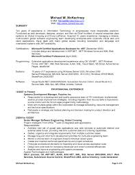 Best Ideas of Sample Resume For Dot Net Developer Experience 2 Years In  Template .
