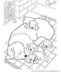 Puppy Dog Coloring Pages Little Page Printable Of Puppies Ba Cute