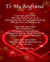Valentine Love Quote For Him With Boyfriend Poems Printable