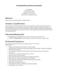 sample new graduate nurse resume resume graduate nursing resume