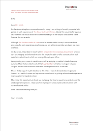 Free Work Experience Free Sample Work Experience Letter Templates At